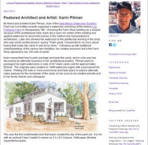 Featured Architect and Artist: Karin Pitman
